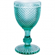 Jogo 8 Taças imperial Vidro Azul Tiffany 300 ml