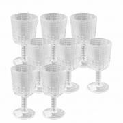 Jogo 8 Taças Transparente Vidro Btc 290 ml