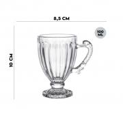 Jogo 8 Xícaras de Cristal de Chumbo para Café 100 ml Lyor