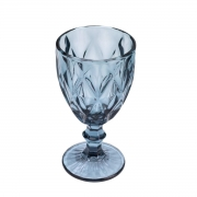 Jogo de 8 Taças Para Água Diamond Azul 260Ml Lyor