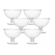 Kit 6 Taças Cristal de Chumbo para Sobremesa Pearl Wolff