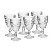 Kit 6 taças para Água Albany 320 ml Vidro Transparente Home e Co