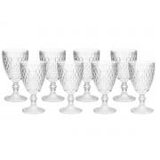 Kit 8 taças para Água Albany 320 ml Vidro Transparente Home e Co