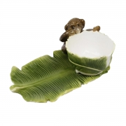 Petisqueira Folha de Banana Verde Feito a Mão Zanatta