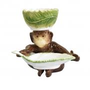 Petisqueira Macaco e Folha com Bowl Zanatta
