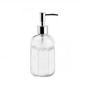 Porta Sabonete Liquido de Vidro Sodo-Cálcico Desenhada 430ml Lyor