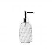 Porta Sabonete Liquido de Vidro Sodo-Cálcico Diamond 430ml Lyor