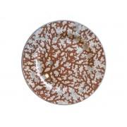 Prato Sobremesa Estampa Coral 2 linha 20 cm
