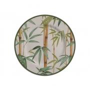 Prato Sobremesa Folhas Bambu 2ª Linha