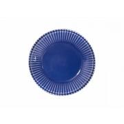 Prato Sobremesa Frisada azul 20cm Scalla