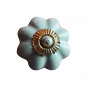 Puxador em Cerâmica Cinza