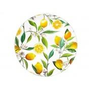 Sousplat Plástico Limão Branco