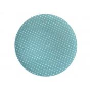Sousplat Plástico Romance Pois Azul 33cm