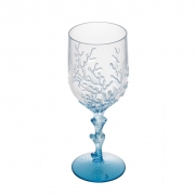Taça de Acrílico 450ml Coral Azul Bon Gourmet