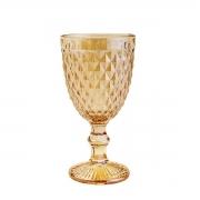 Taça para Agua Bico de Abacaxi Âmbar Metalizado Lyor 325 ml