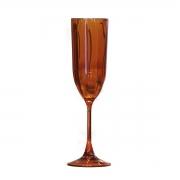 Taça para Champagne Acrílico Laranja In Casa 200 ml
