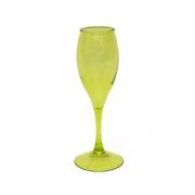 Taça para Champagne Acrílico Verde 220 ml