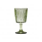Taça p/ água Vidro Sodo-Cálcico Leaves Verde 300 ml