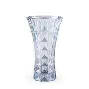 Vaso 25,5x14x14 Cristal de Chumbo Diamant Azul Wolff