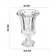 Vaso com Pé de Vidro Sodo Cálcico Renaissance