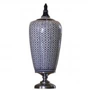 Vaso Decorativo em Ceramica e Metal