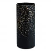 Vaso Preto e Dourado em Cimento