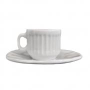 Xícara de Café 50ml com Pires Branco Demo
