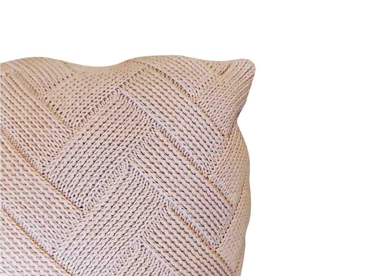Almofada de Tricot 55x55 cm Bloco Una Bege  - Lemis