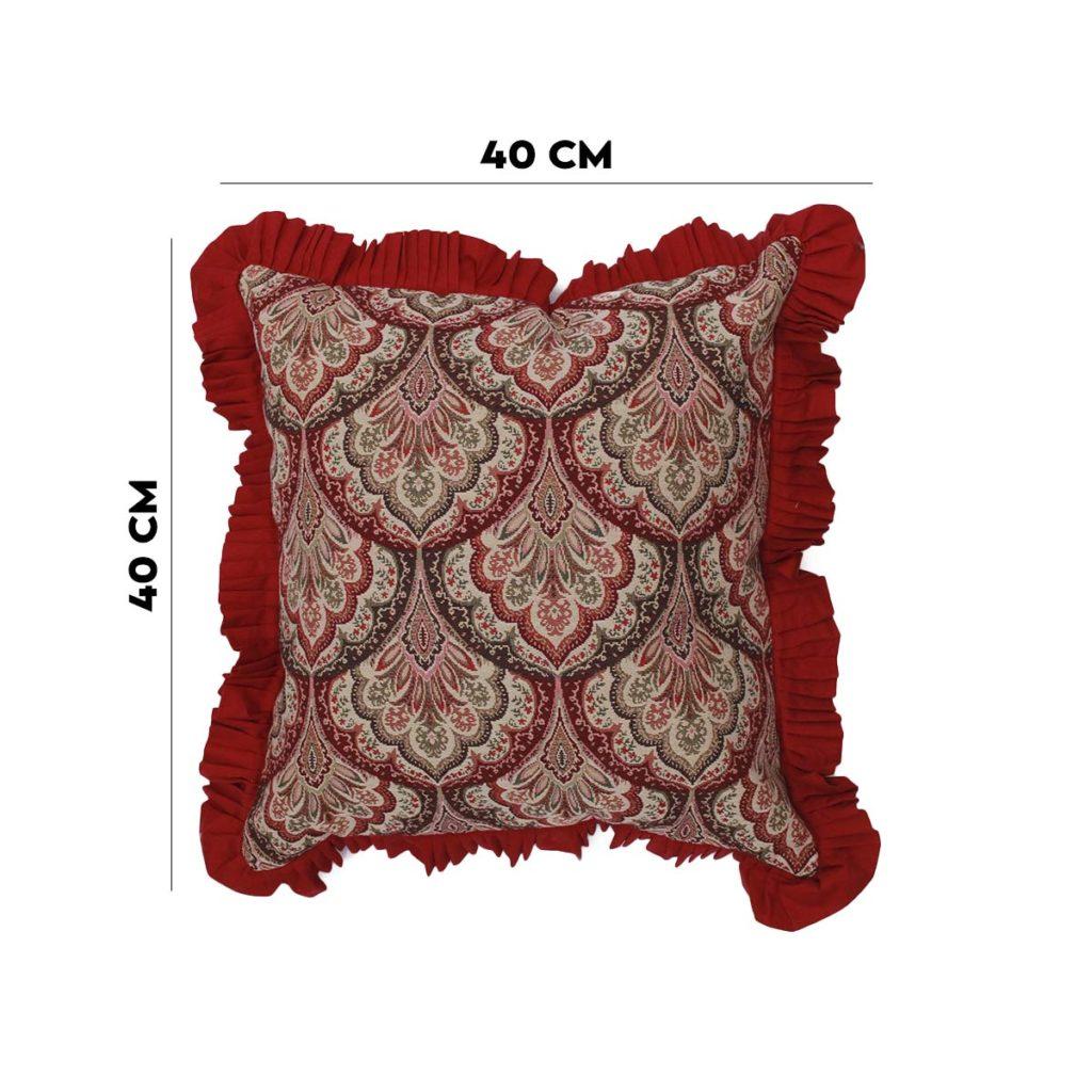 Almofada Lemis Vermelha com Franja  - Lemis