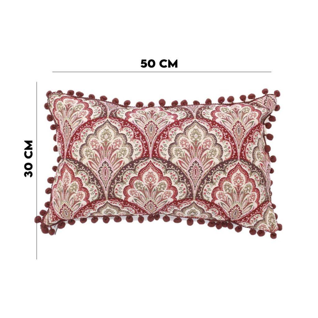 Almofada Lemis Vermelho 50×30  - Lemis