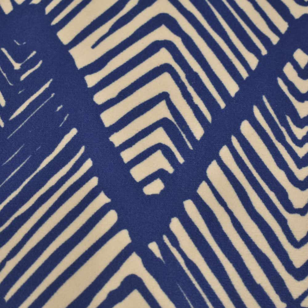 Almofada Zig Zag Azul Aveludada 52×52  - Lemis