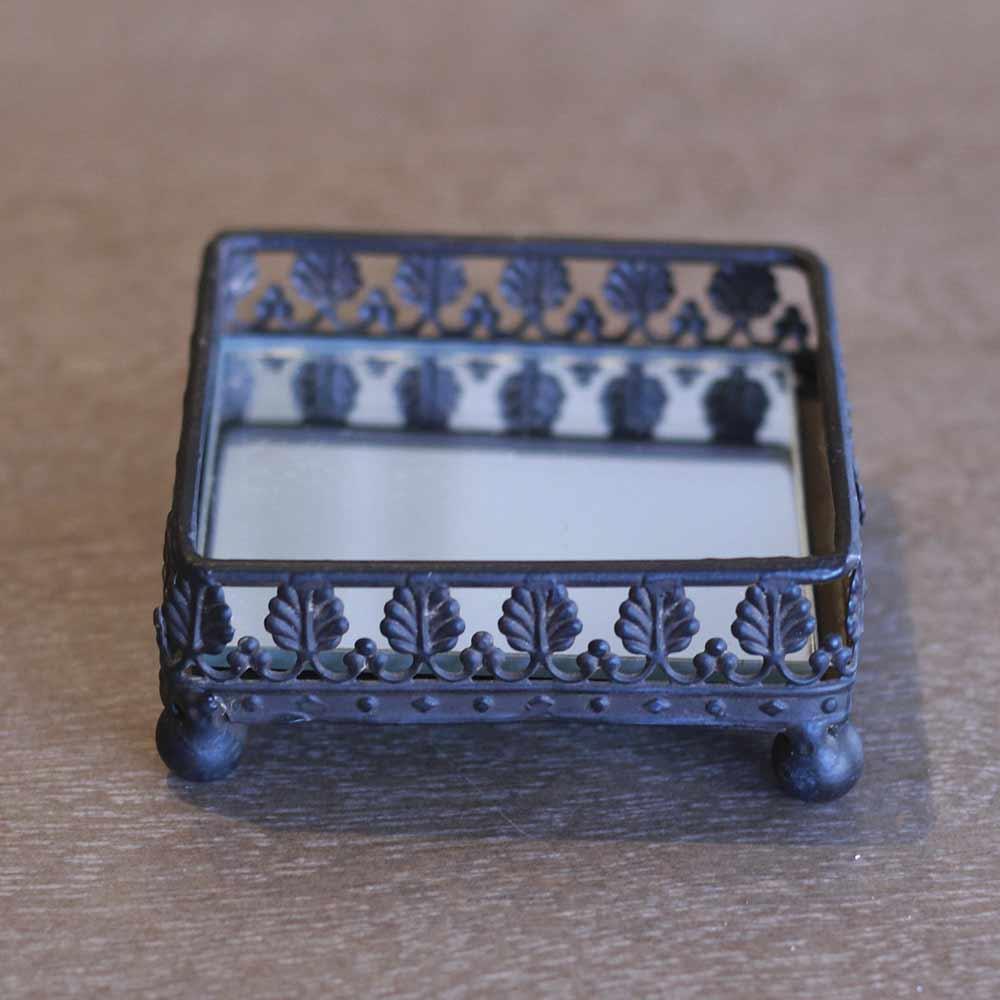 Bandeja Decorativa Pequena Quadrada Clássica  - Lemis