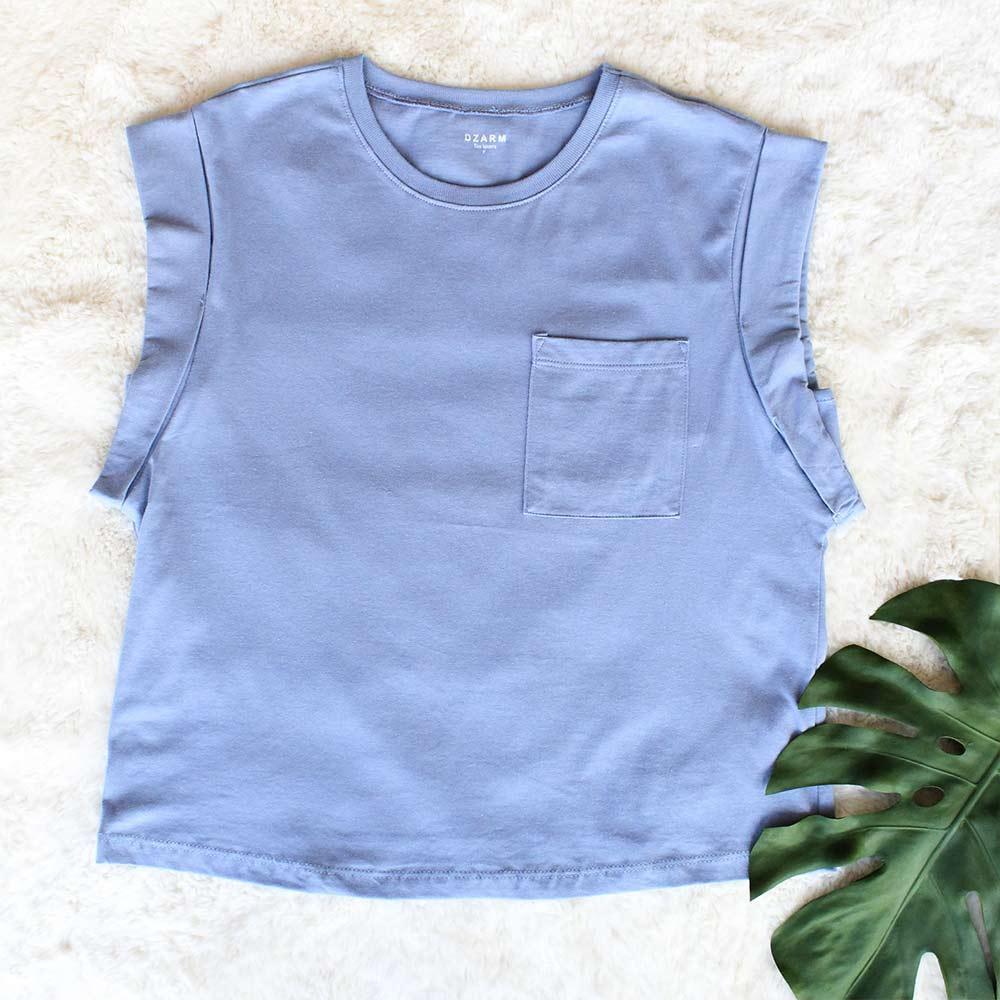 Blusa Feminina Azul Hortência Tee Lovers Dzarm  - Lemis