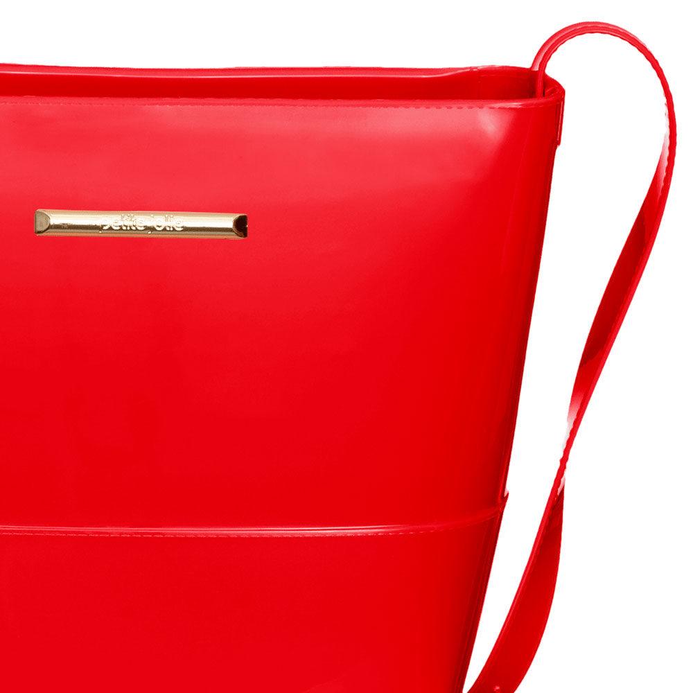 Bolsa Petite Jolie J-lastic Vermelho Hibisco transversal  - Lemis