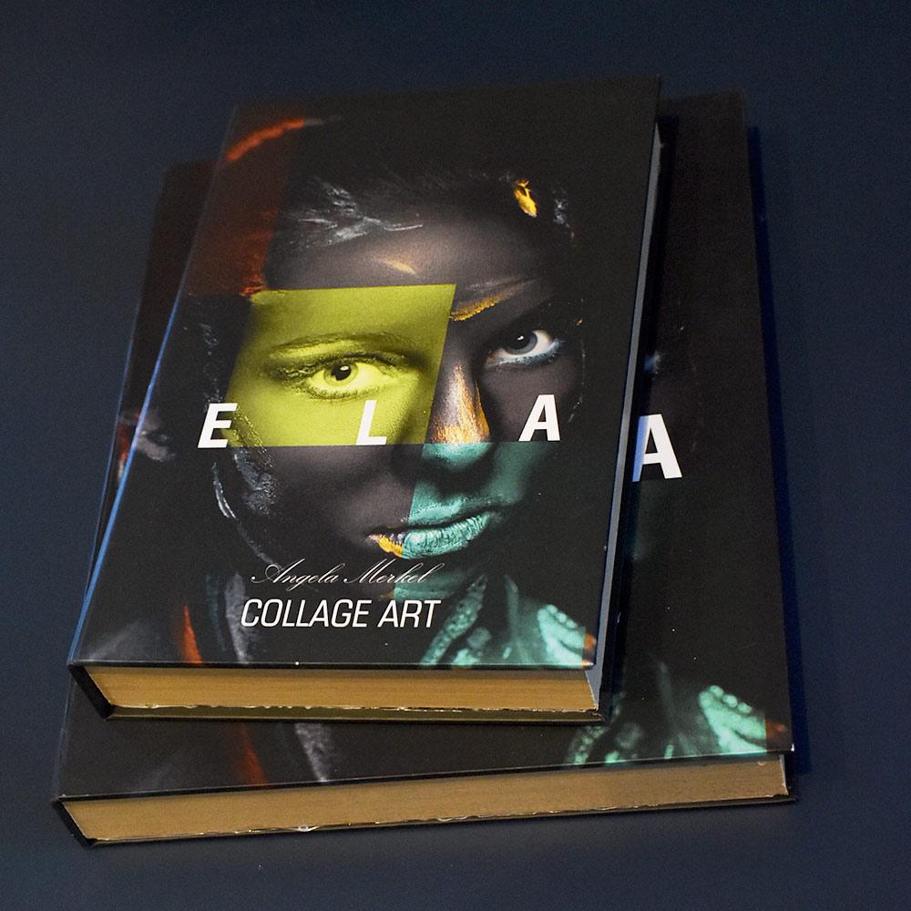 Book Box E L A Collage Art 26x17x4 cm  - Lemis