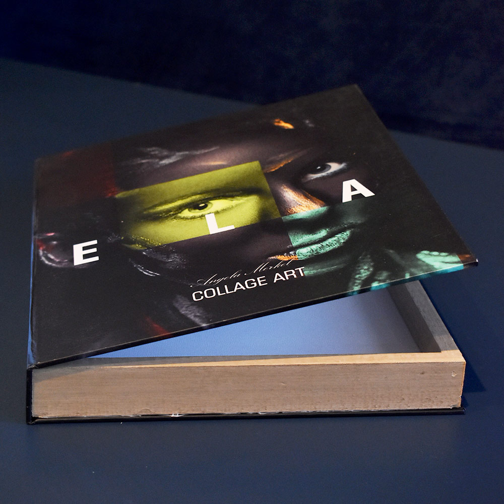 Book Box E L A Collage Art 30x24x4 cm  - Lemis