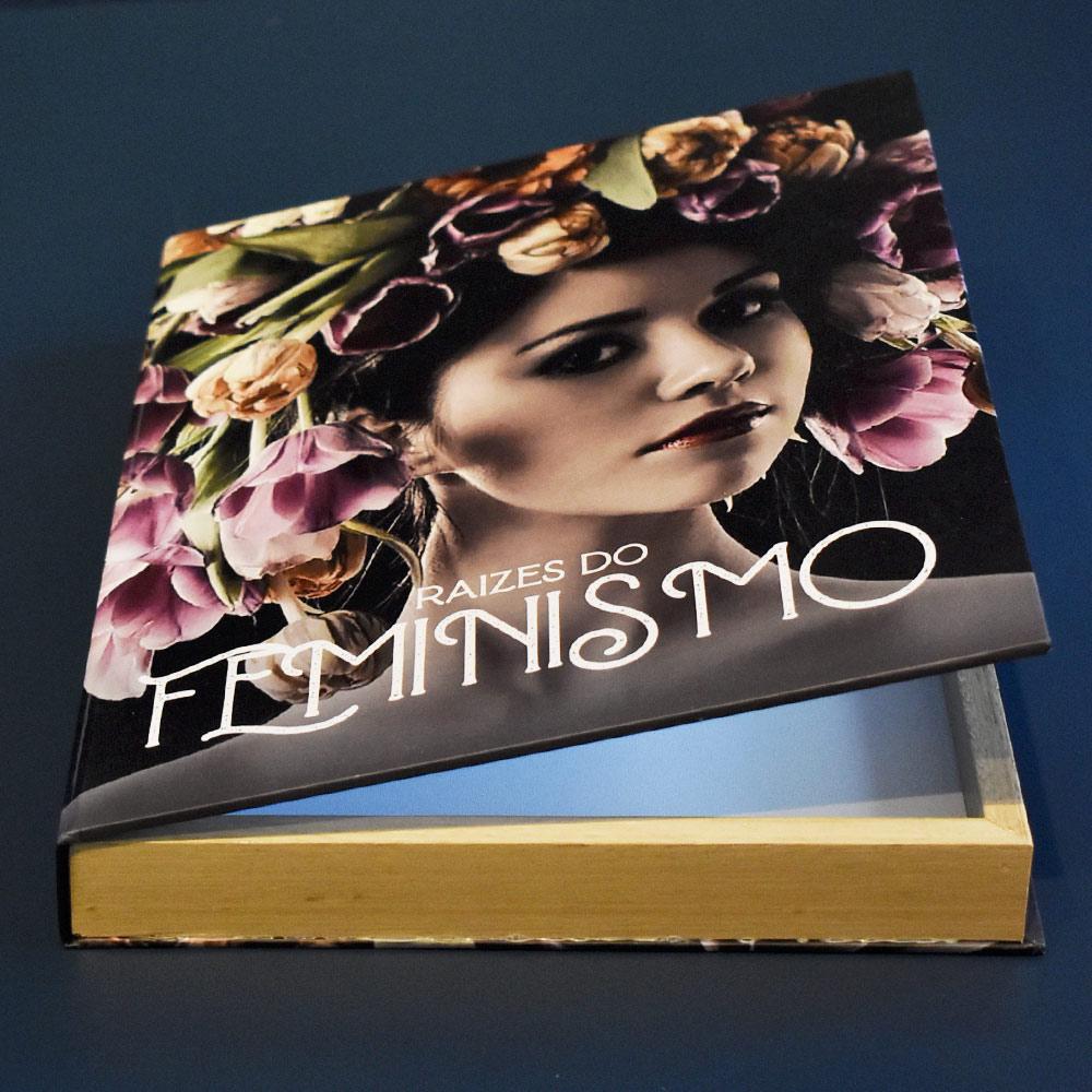 Book Box Raízes Do Feminismo 30x24x4 cm  - Lemis
