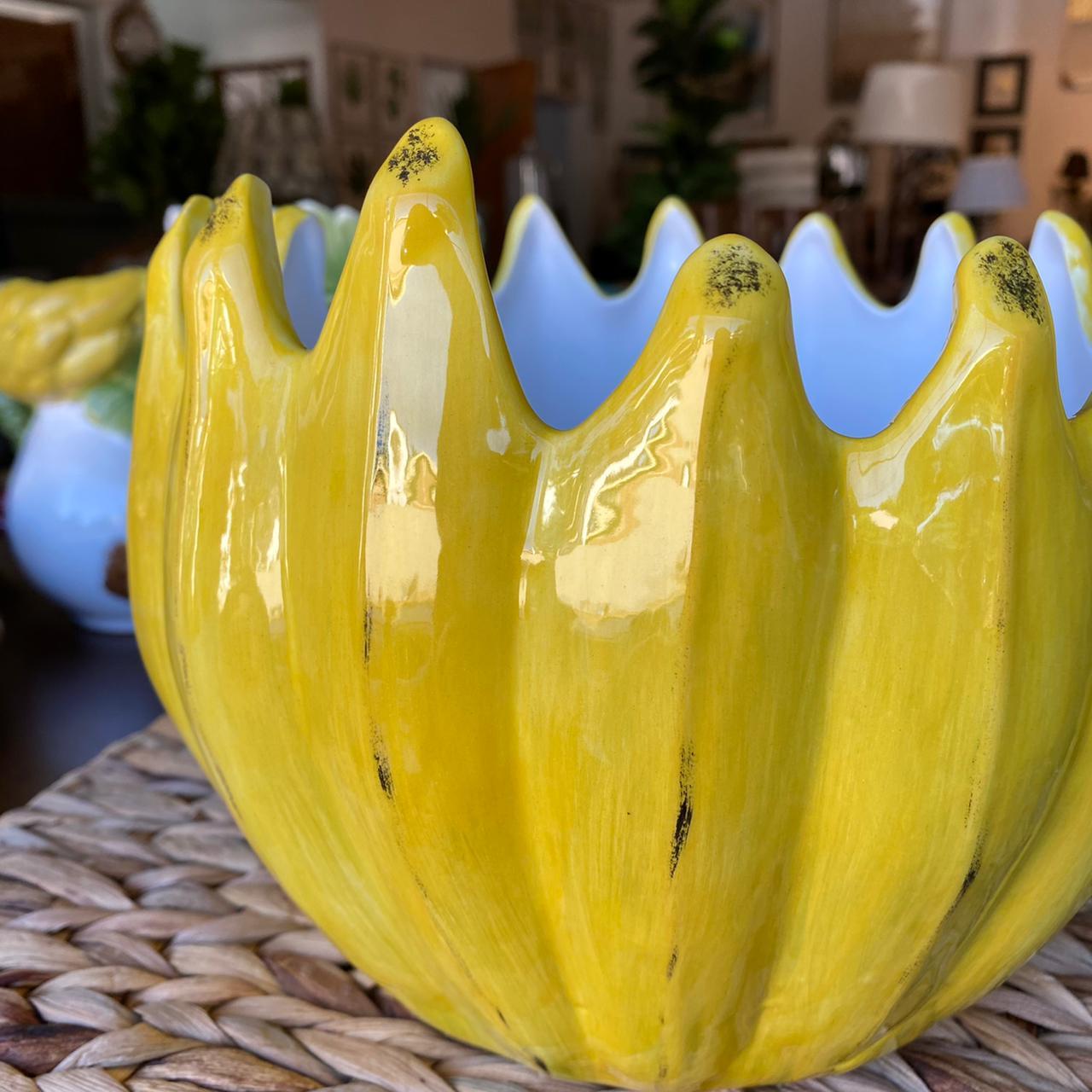 Bowl Cachepot Penca de Banana Feito a Mão Zanatta  - Lemis
