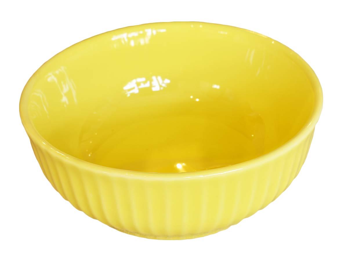 Bowl para Sopa Frisada Amarelo Limão Scalla  - Lemis