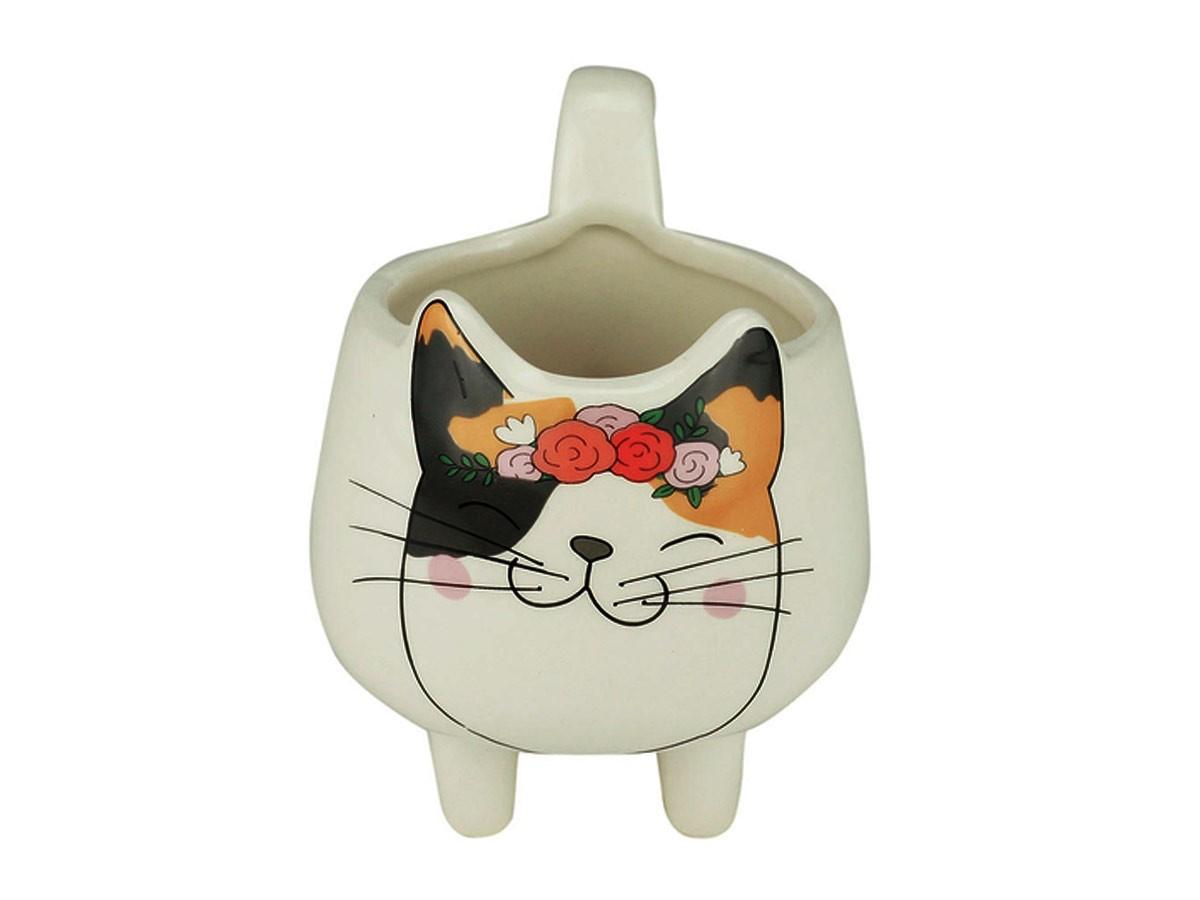 Cachepot Cerâmica Flower Headband Fat Cat  - Lemis