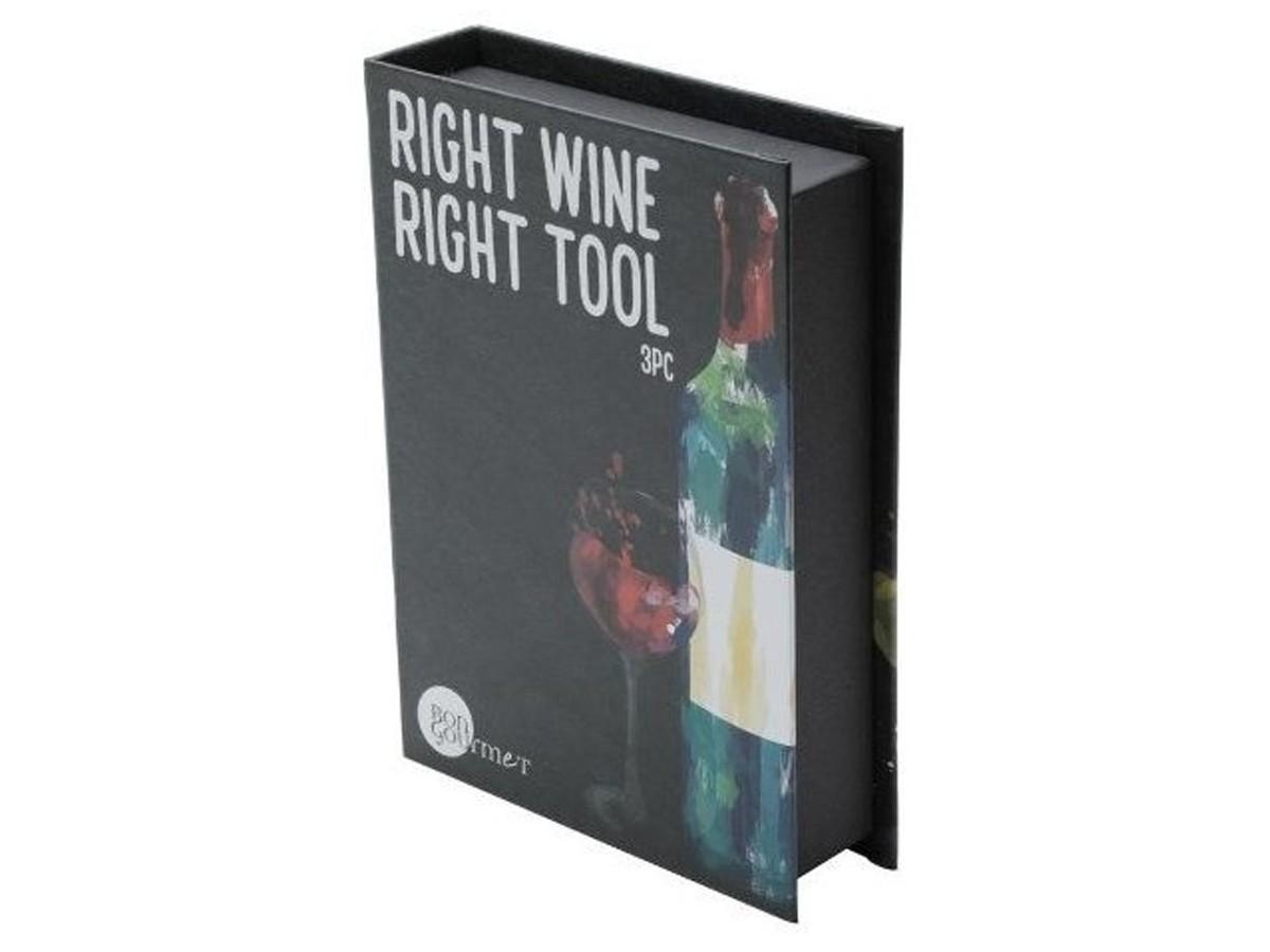 Caixa 3 Peças Aço Inox P/ Vinho  - Lemis