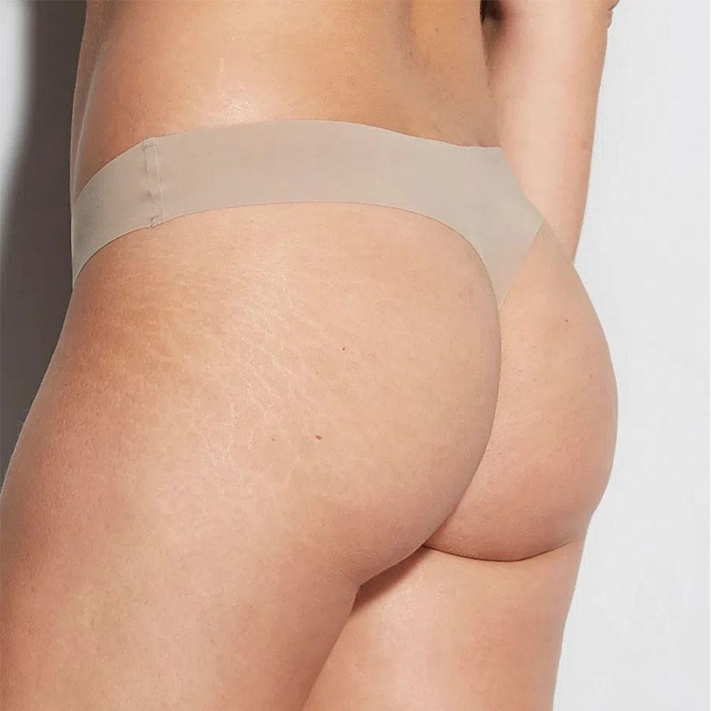 Calcinha Fio Dental Nude Bege Camurça Hope  - Lemis