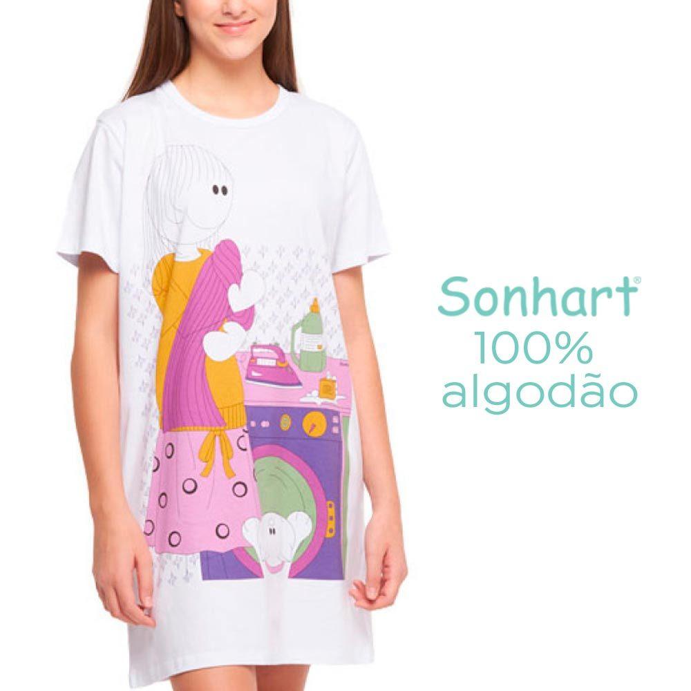 Camisão Manga Curta Gatinho Sonhart  - Lemis