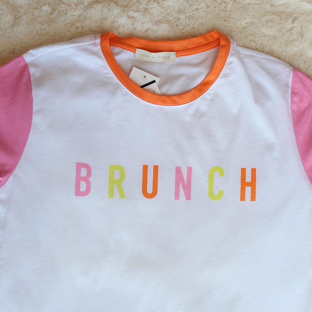Camiseta Brunch Branca Esmeral  - Lemis