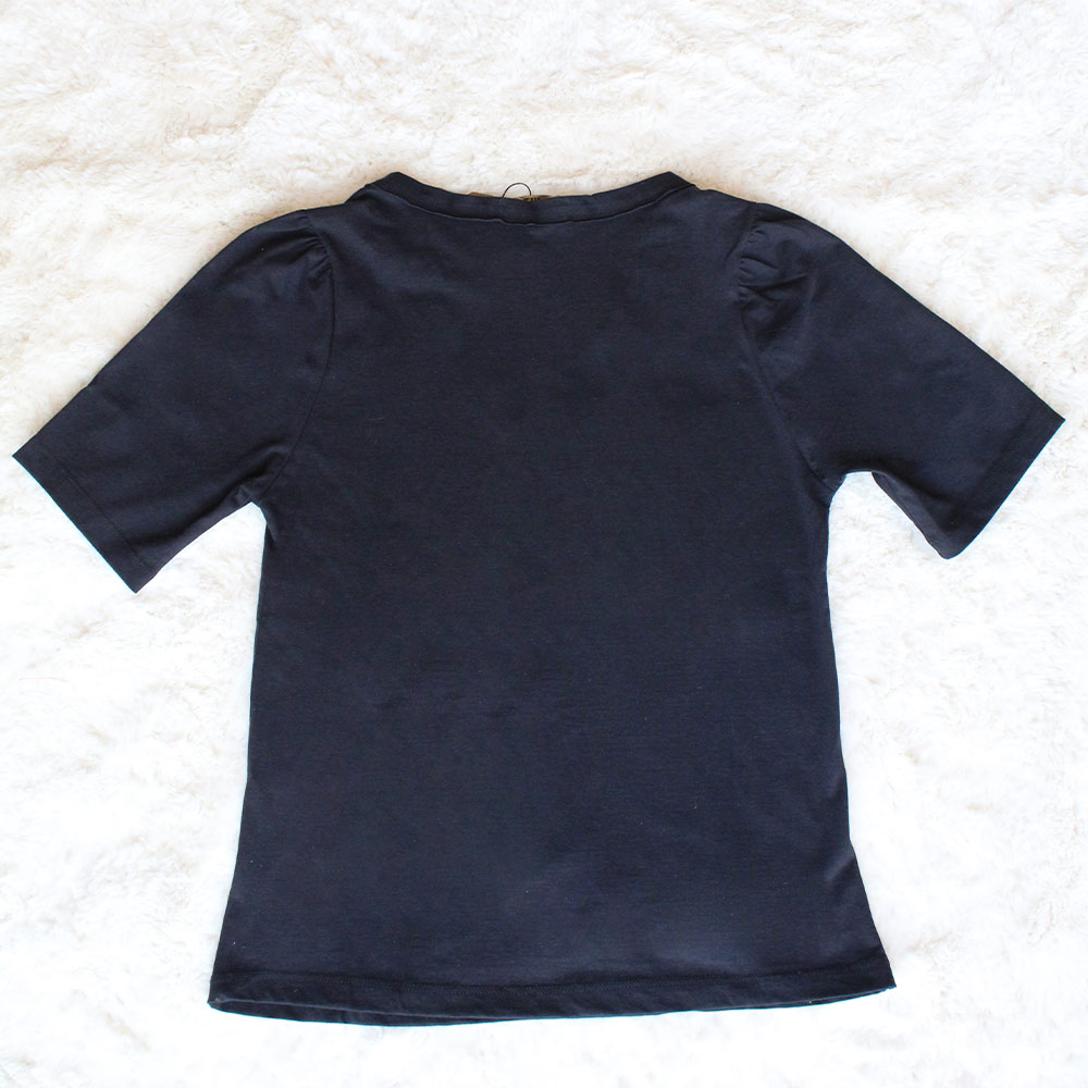 Camiseta em Malha com Bordado Crush Preta HIT  - Lemis
