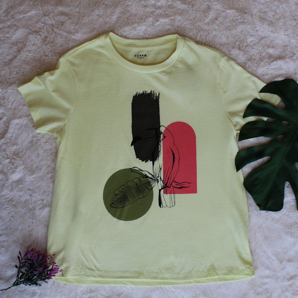 Camiseta Tucano Amarela Tee Lovers Dzarm  - Lemis