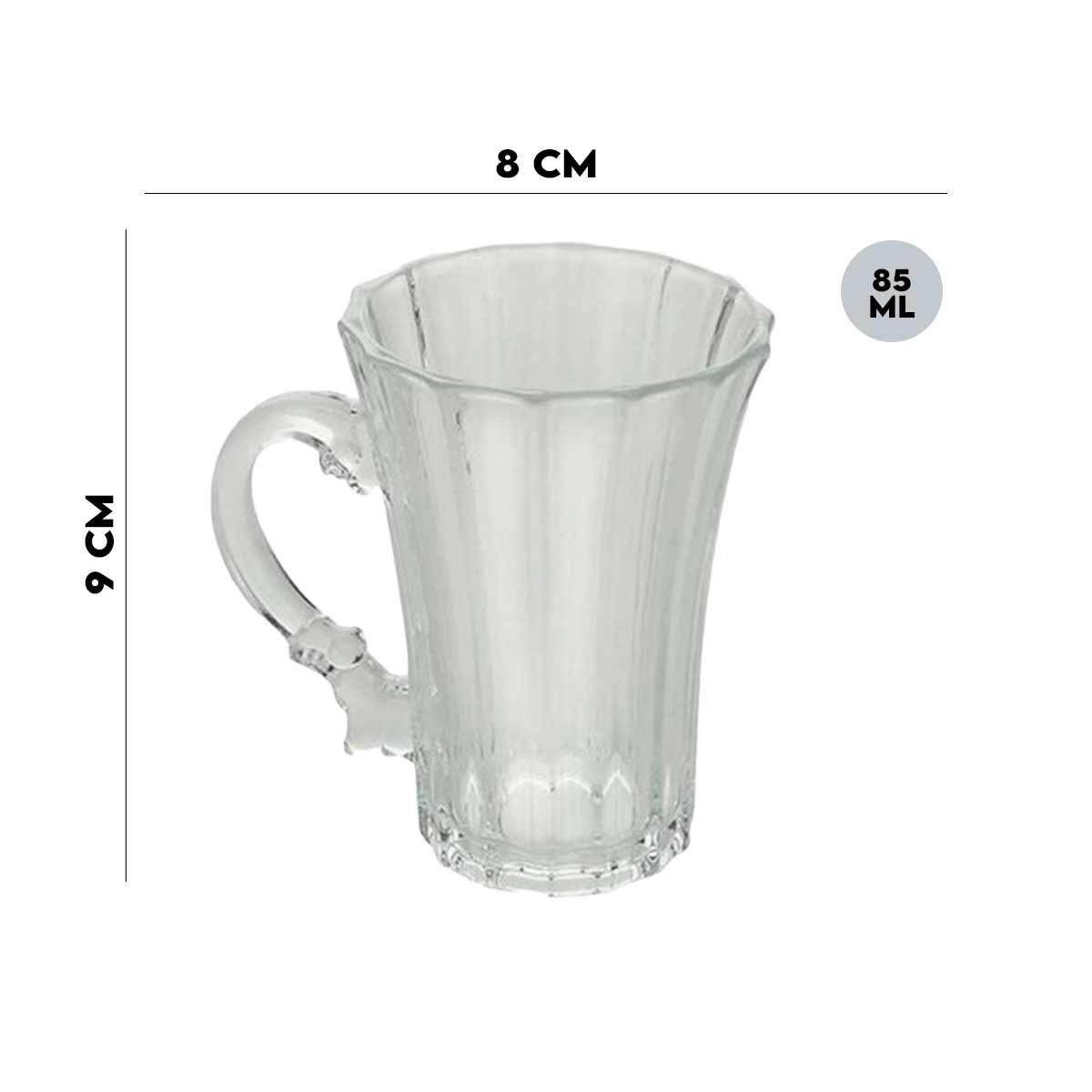 Caneca de Cristal de Chumbo Renaissance 85ml Lyor  - Lemis