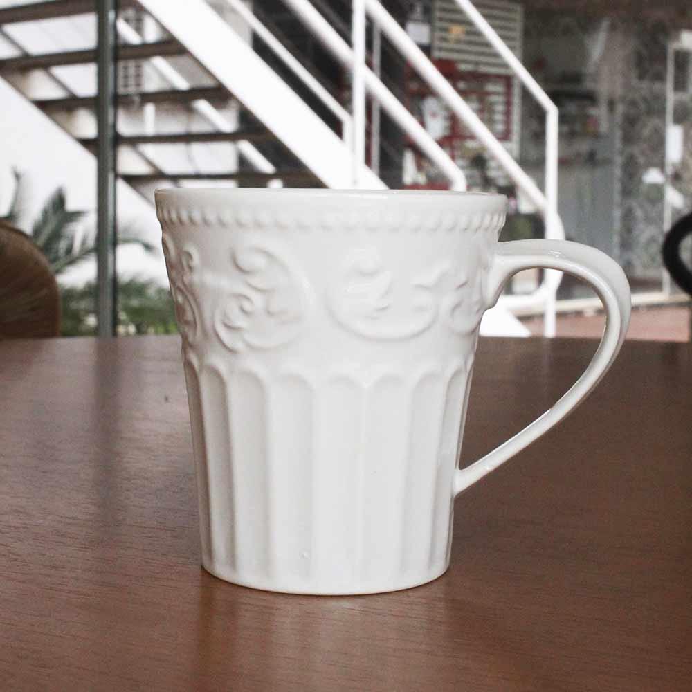 Caneca de Porcelana New Bone Angel Branco  - Lemis