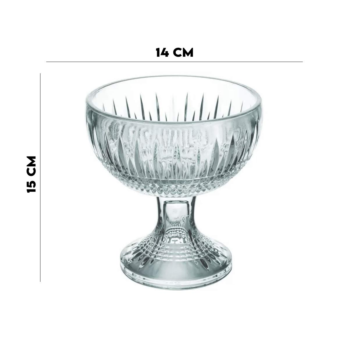 Centro de Mesa 15x14x14  Wollf Cristal de Chumbo Quenn Verde  - Lemis
