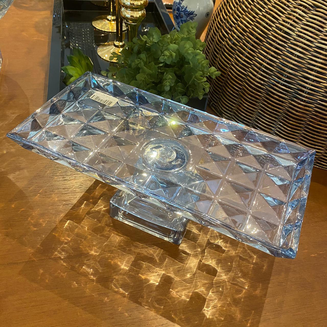 Centro de Mesa de Cristal de Chumbo Diamant Azul  - Lemis